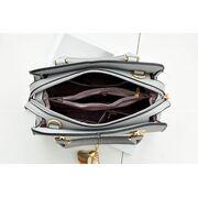 Женские сумки - Женская сумка Saffiano, серая П0627