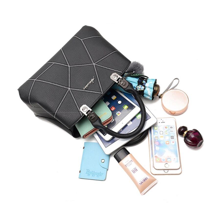 Женские сумки - Женская сумка, черная 0628