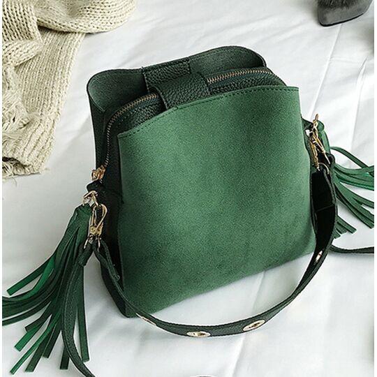 Женские сумки - Женская сумка, зеленая П0633
