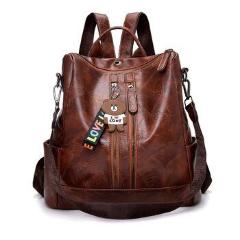 Женский рюкзак, коричневый 0641