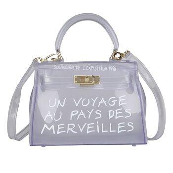 Женская сумка прозрачная, белая 0645