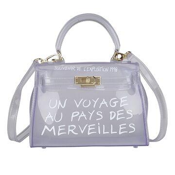 Женская сумка прозрачная, белая П0645