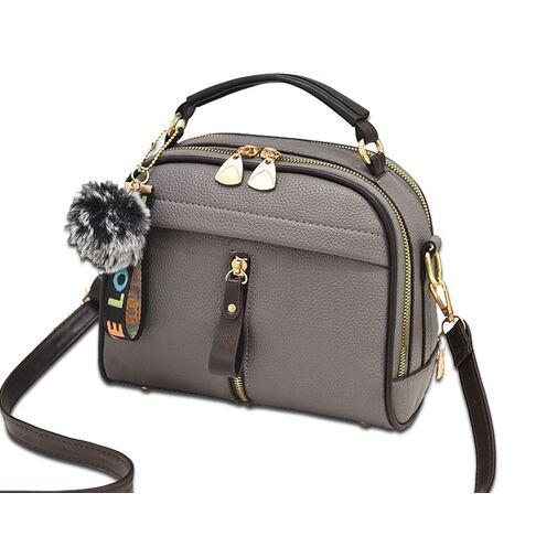 Женские сумки - Женская сумка ETALOO, серая 0660