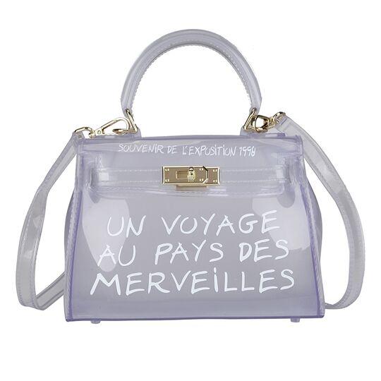 Женские сумки - Женская сумка прозрачная, белая П0663