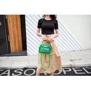 Женские сумки - Женская сумка прозрачная, зеленая П0664