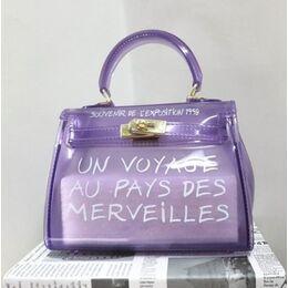Женская сумка прозрачная, фиолетовая 0667