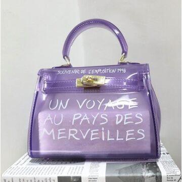 Женская сумка прозрачная, фиолетовая П0668