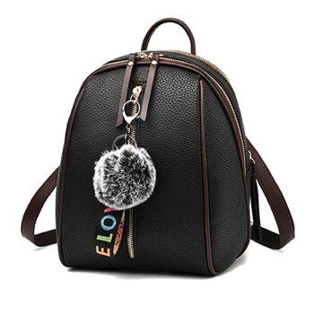 Женский рюкзак, черный 0674
