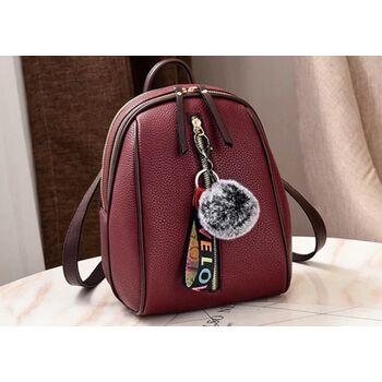 Женский рюкзак, красный 0675