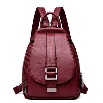 Женский рюкзак PHTESS, красный 0682