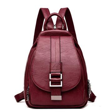 Женский рюкзак PHTESS, красный П0682