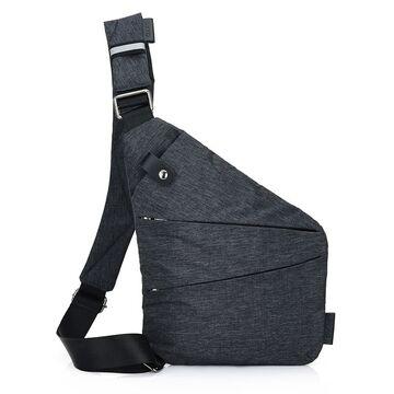 Мужская сумка слинг на левое плечо, черная - П0687