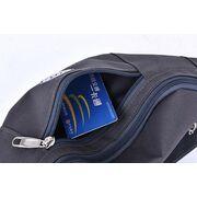 Поясные сумки - Сумка поясная, бананка черная П0712