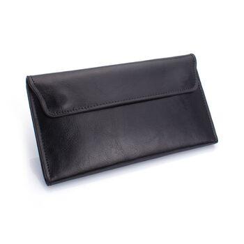 Женский кошелек, черный П0713