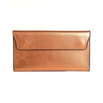 Женский кошелек, золотистый П0715