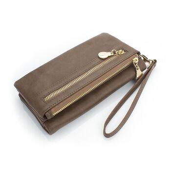Женский кошелек DOLOVE, коричневый - П0717