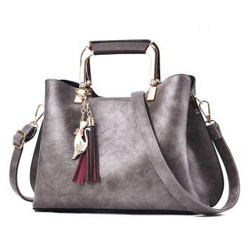 Женская сумка Shunvbasha, серая 0722
