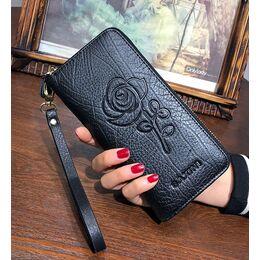 Женский кошелек, черный 0726