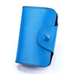 Визитница голубая П0728