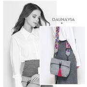 Женские сумки - Женская сумка DAUNAVIA, серая П0750