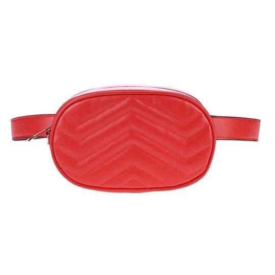 Поясные сумки - Женская поясная сумка, бананка DAUNAVIA, красная П0752