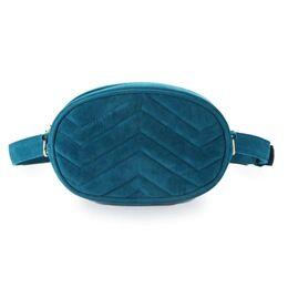 Женская поясная сумка, бананка DAUNAVIA, синяя 0753