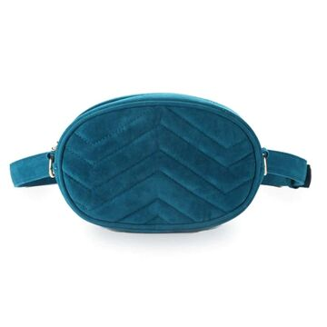 Женская поясная сумка, бананка DAUNAVIA, синяя П0753