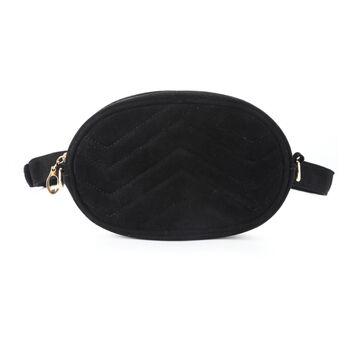 Женская поясная сумка, бананка DAUNAVIA, черная 0754