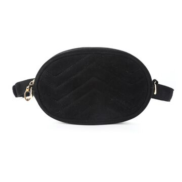 Женская поясная сумка, бананка DAUNAVIA, черная П0754