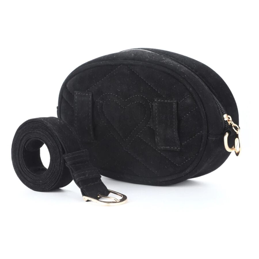 Поясные сумки - Женская поясная сумка, бананка DAUNAVIA, черная 0754