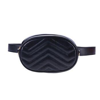 Женская поясная сумка, бананка DAUNAVIA, черная 0755
