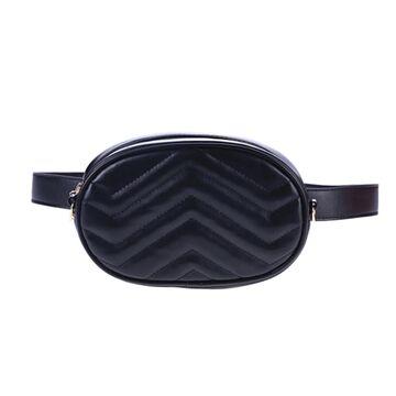 Женская поясная сумка, бананка DAUNAVIA, черная П0755
