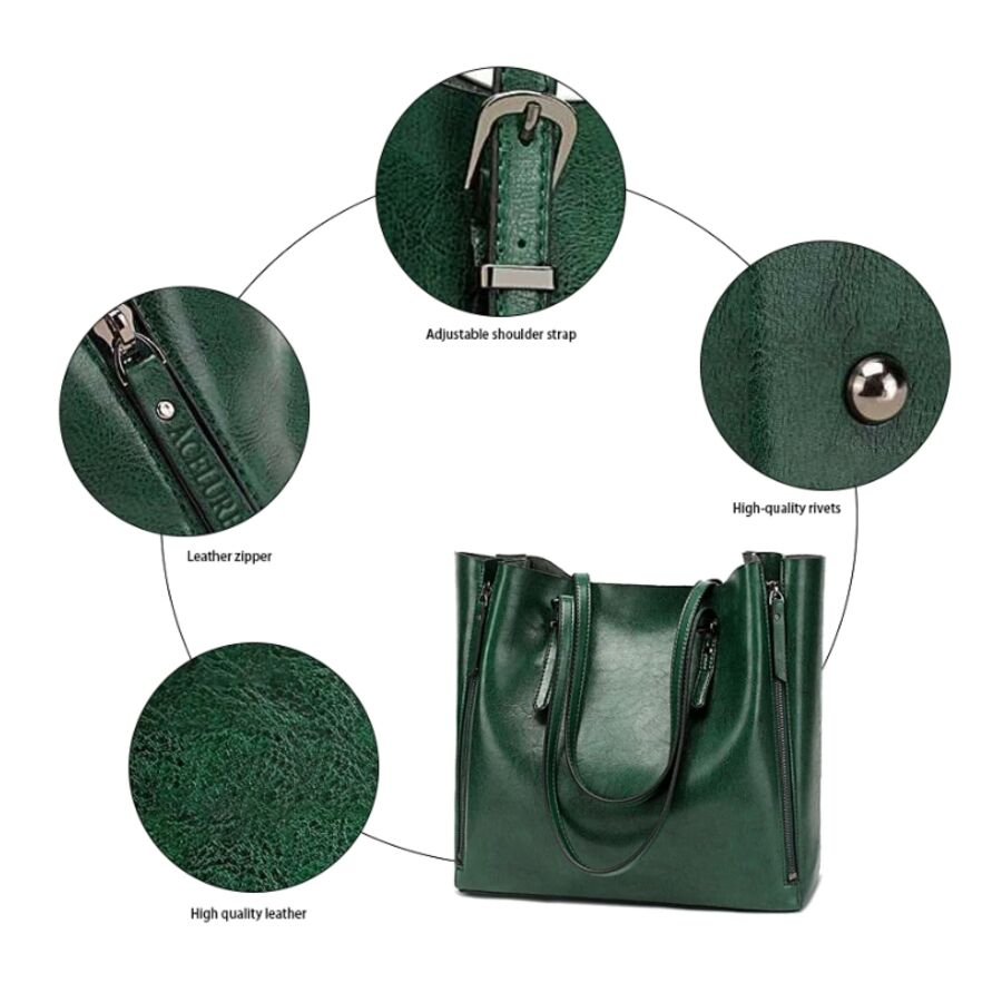 Женские сумки - Женская сумка ACELURE, зеленая 0797