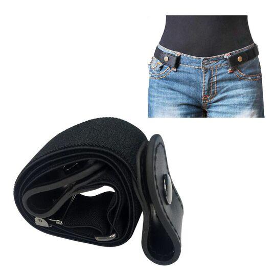Женские ремни и пояса - Пояс без пряжки, черный П0830
