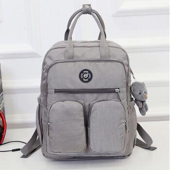 Женский рюкзак, серый 0868