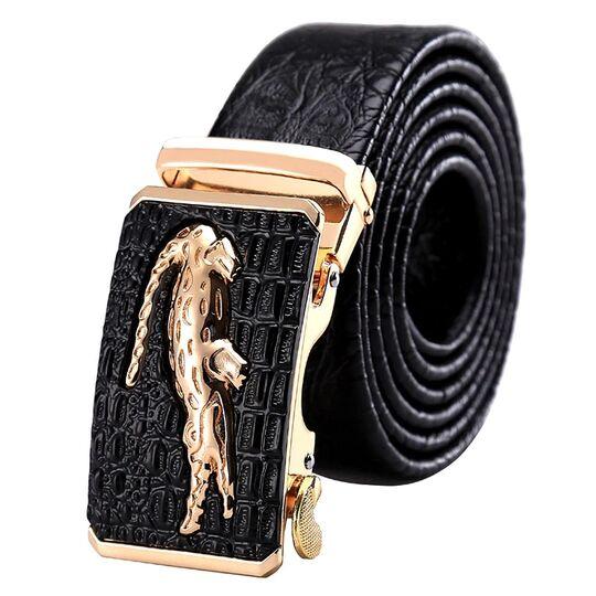 Мужские ремни и пояса - Мужской ремень DESTINY, черный П0874