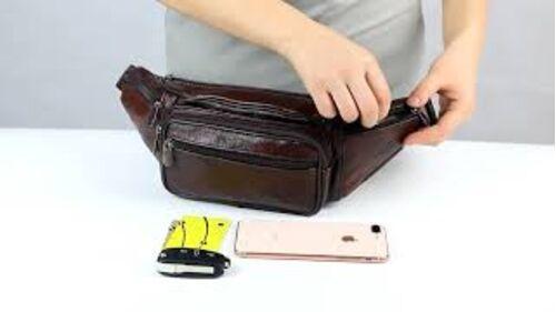 Поясные сумки - Сумка поясная, бананка ZZNICK, коричневая 1219