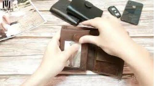 Мужские кошельки - Мужской кошелек, коричневый 0013
