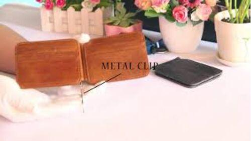 Мужские кошельки - Зажим, кошелек, коричневый 0307